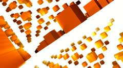 Orange Cubes Abstract - stock footage