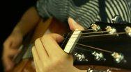 Playing guitar,strum. Stock Footage
