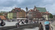 Stock Video Footage of Castle Square, Old Town in Warsaw, Poland