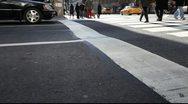 NYC Crosswalk Stock Footage