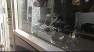 New York City Window Display with Shoes Stock Footage