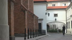 Queen Anna's corridor, Old Town in Warsaw, Poland Stock Footage