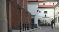 Stock Video Footage of Queen Anna's corridor, Old Town in Warsaw, Poland