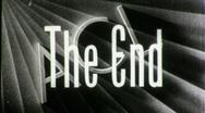 Amateur Cinema League THE END Vintage 8mm Film Leader Texture Loop 1563 Stock Footage