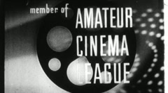 Amateur Cinema League Vintage Film Lovers Fan Club Leader Texture Loop 1562 Stock Footage