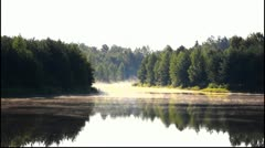Dawn over the lake Stock Footage