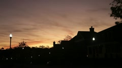 Street drive during sunset Stock Footage