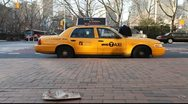 NYC Taxi Parked Stock Footage