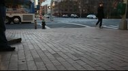 Mid town Manhattan Intersection Stock Footage