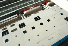 Cruise Ship Approach 01 NTSC Stock Footage