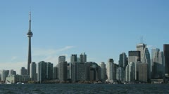 The Toronto Skyline from across the bay Stock Footage