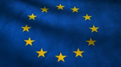 Europe flag. Stock Footage
