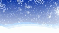 Winter snow fall HD, loop. - stock footage