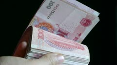 Counting money RMB. Stock Footage