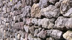 Lava Stone Wall Stock Footage