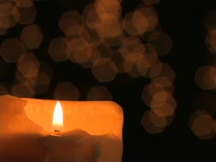 Stock Video Footage of Candlelight with Bokeh Background