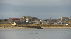 Waldport, homes on the peninsula, zoom. Stock Footage