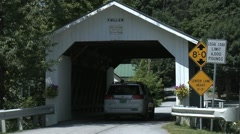 Fuller Covered Bridge in Vermont 1 Stock Footage