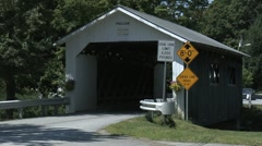 Fuller Covered Bridge in Montgomery, Vermont 2 Stock Footage