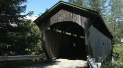 Covered Bridge, Waterville, Vermont from roadway Stock Footage