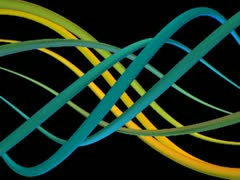 Spiralize Loop (Cyan-Yellow) VGA - stock footage