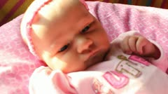 Alert Newborn - stock footage