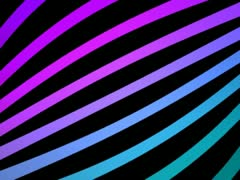 Ribbon Flow Loop (Magenta-Cyan) VGA - stock footage