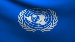 ONU flag. Stock Footage