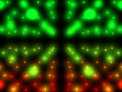 Pretty Spinning Christmas Lights Loop VGA - stock footage