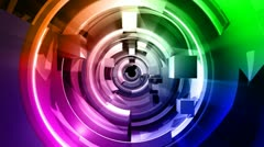 3D Abstract Geometric Shapes Animation HD - stock footage
