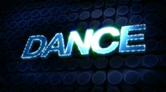 Dance glitz sparkle text Stock Footage