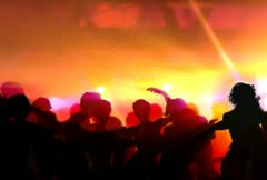 dancers at club - stock footage
