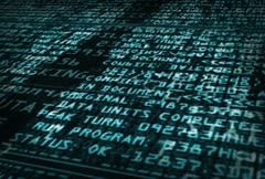 Data code typing on screen Stock Footage