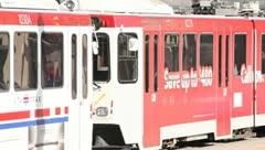 Trax Train Pulls Away Stock Footage