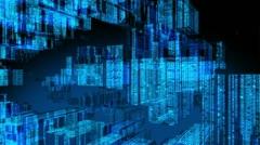 Data Code Digital Computer Matrix Technology Animation - stock footage