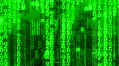data code digital computer matrix technology - stock footage