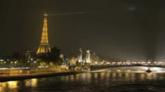 Time lapse of the Eiffel Tower in Paris - stock footage