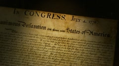 Declaration of Independence - stock footage