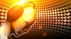 diamond dj girl disco ball - stock footage