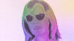 funky digital dancer girl - stock footage