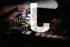 Digital abstract feedback Stock Footage