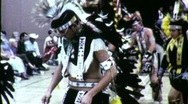 Stock Video Footage of American Indian Pow Wow Dancers Circa 1965 (Vintage Film Home Movie) 1517
