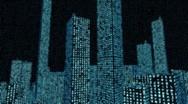 Stock Video Footage of Digital Data Matrix Code City (Loop)