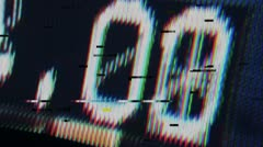 digital feedback timecode - stock footage