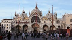 Piazza San Marco, Basilica, Saint Mark's Square, Popular Landmark of Venice Stock Footage