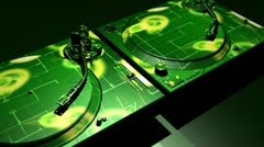 Dj digital funk turntables Stock Footage