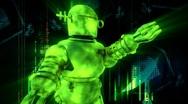 Dancing techie robot Stock Footage