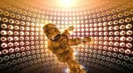 Shiny disco robot dancing Stock Footage