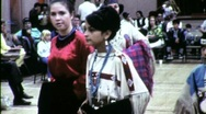 Stock Video Footage of American Indian Women Pow Wow Dancers Circa 1965 (Vintage Film Home Movie) 1518