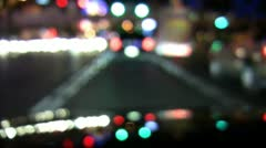 drive city night (slow motion defocused) - stock footage